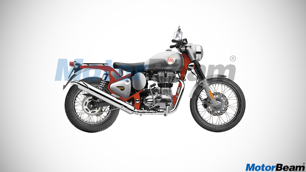 Royal Enfield 500 Trials Render