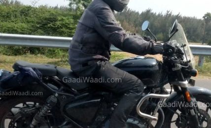 Royal Enfield 650cc Cruiser Spied Side