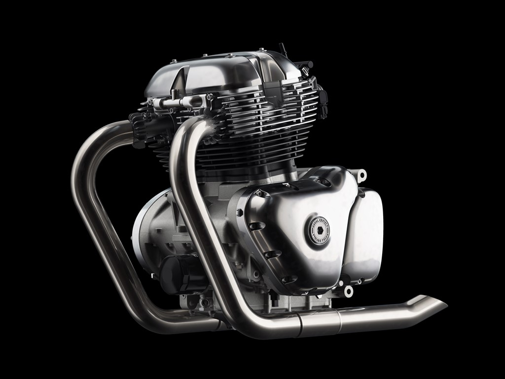 Royal Enfield 650cc Engine Left View