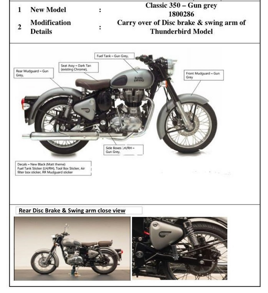 Royal Enfield Classic Rear Disc Version Launch Soon | MotorBeam
