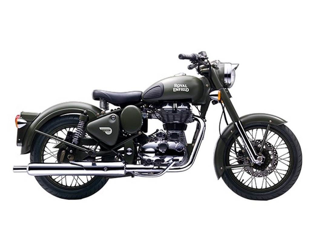 Royal Enfield Classic 500 Battle Green Side