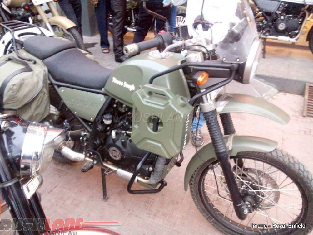 Royal Enfield Himalayan Army Green Jerrycan