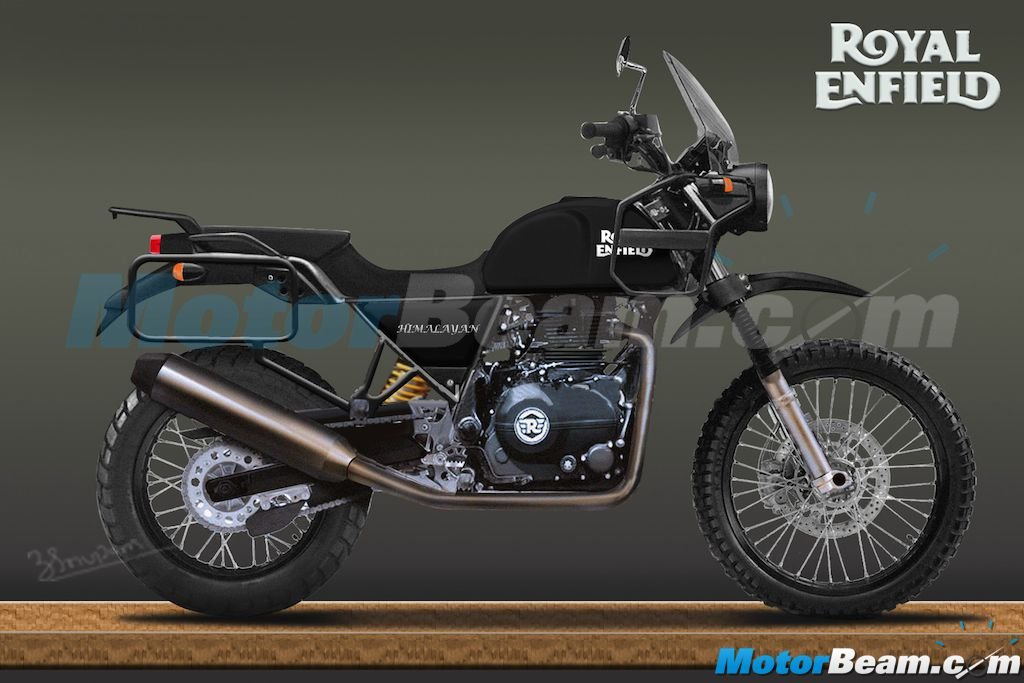 Royal Enfield Himalayan Continues Testing Production Model Rendered