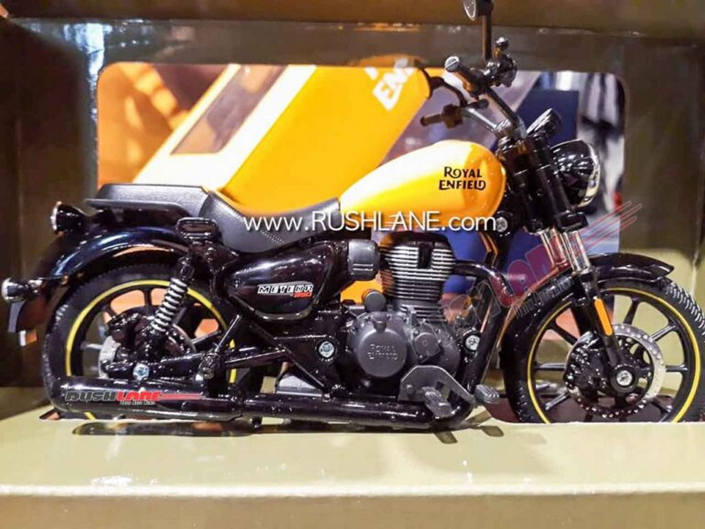Royal Enfield Meteor Scale Model Yellow