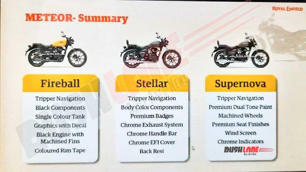 Royal Enfield Meteor Variants