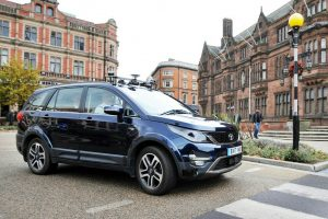 Self-Driving Tata Hexa Spotted UK
