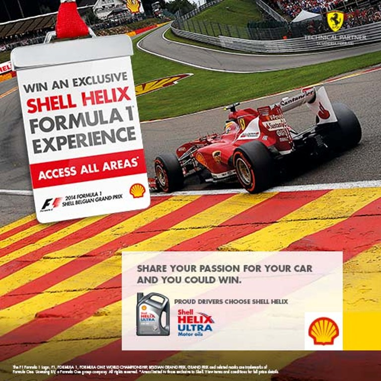 Shell Helix Ultra Formula One Experience