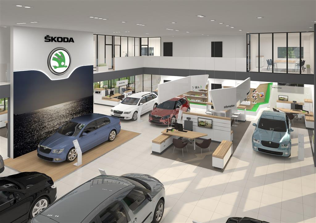Skoda Dealership Redesign Interiors