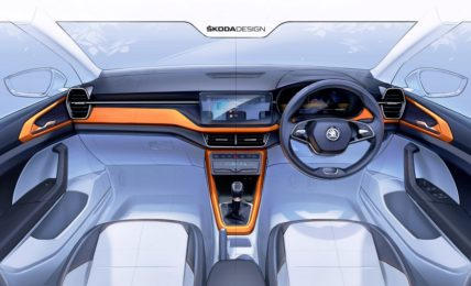 Skoda Kushaq Interior Design Sketch