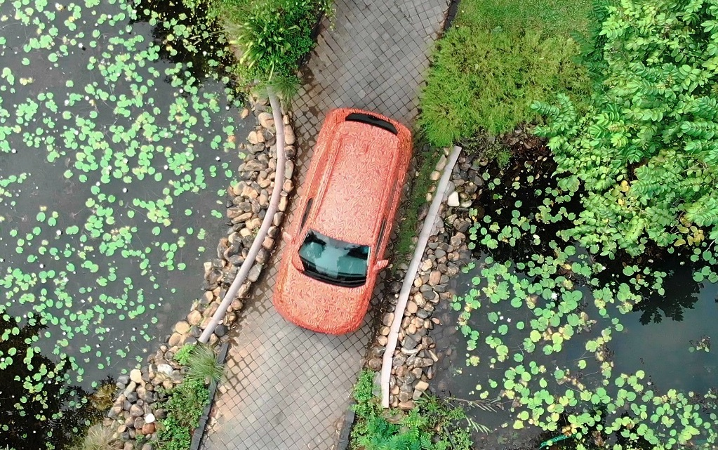 Top view of the compact SUV