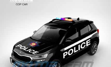 Skoda Kushaq Render Police Patrol Vehicle