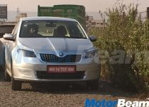 Skoda Rapid Facelift Caught Testing