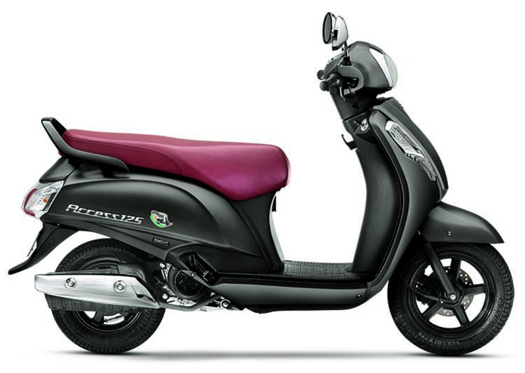 Suzuki Access Matte Grey Side