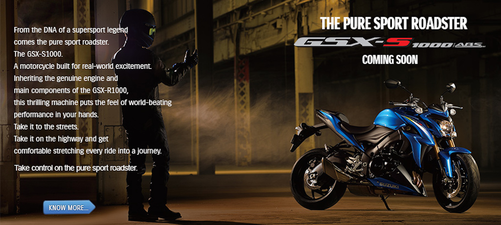 Suzuki GSX-S1000 India Coming Soon