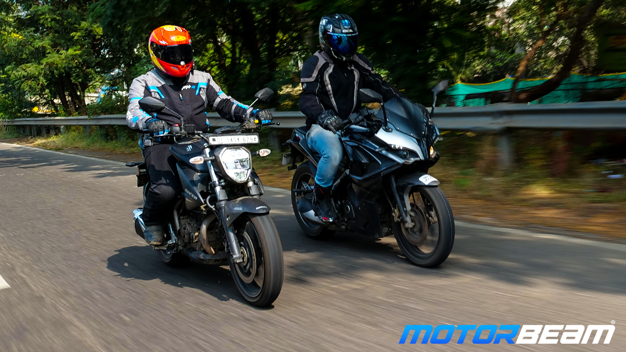 Suzuki Gixxer 250 vs Bajaj Pulsar RS 200 - Video Review