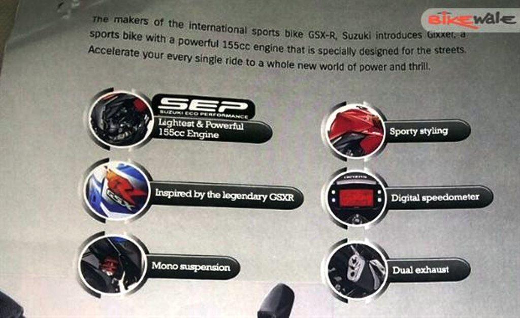 Suzuki Gixxer Brochure Features