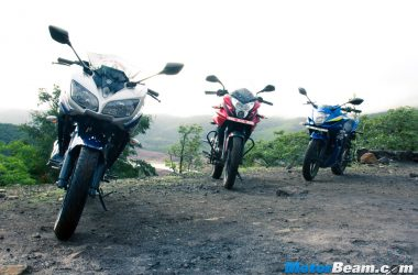 Suzuki Gixxer SF vs Pulsar AS 150 vs Yamaha Fazer Comparison