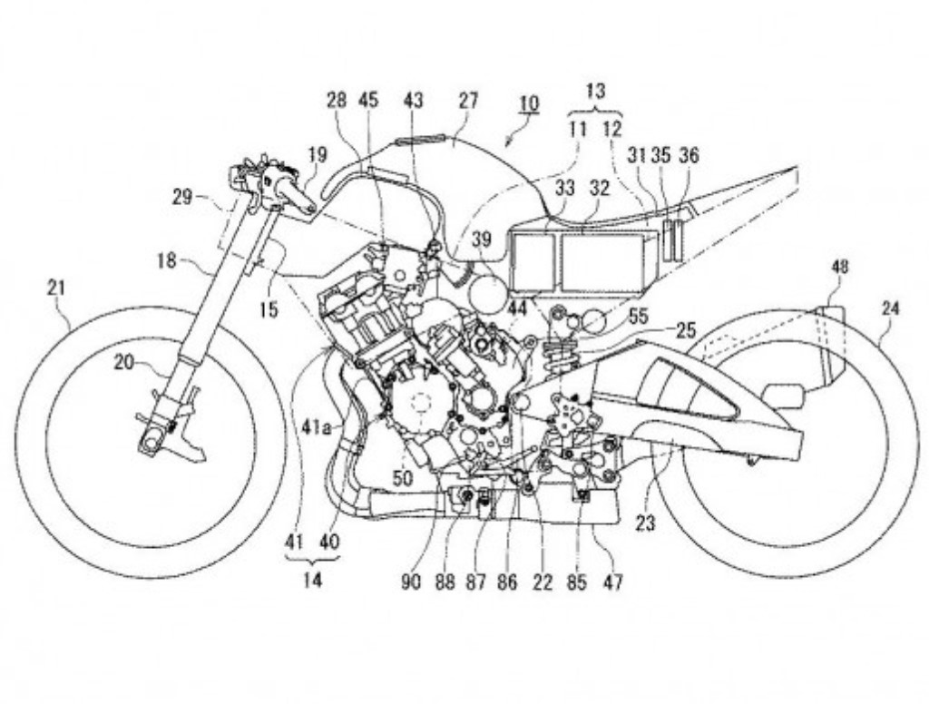 suzuki files patent for hybrid superbike with semi automatic