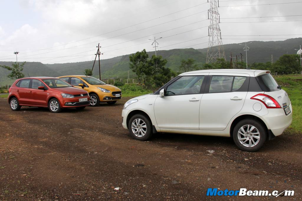 Swift vs Punto Evo vs Polo 1.5 TDI