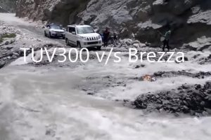 TUV300 vs Brezza Video Shows Mahindra's Off-Road Prowess
