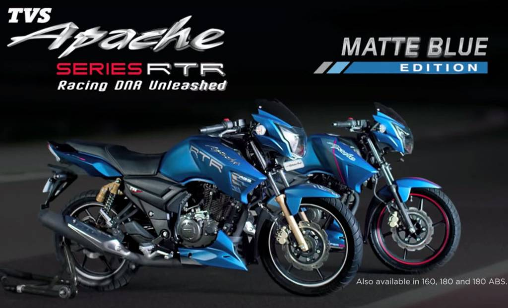 2017 Tvs Apache 160 Apache 180 Bs4 Launched Motorbeam Indian