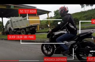 2018 TVS Apache 160 Spotted With Monoshock Suspension [Video]