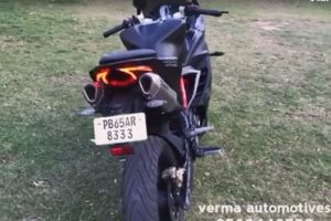 TVS Apache RR 310 Modified Underseat Exhaust