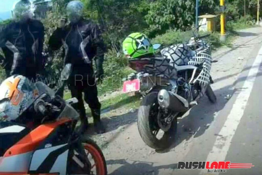 TVS Apache RR 310 Spied With RC 390