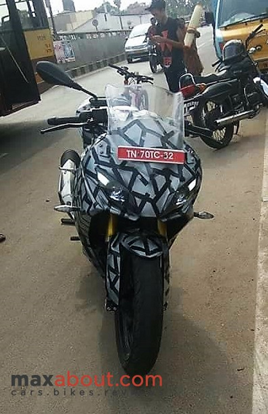 TVS Apache RR 310S Front Spied