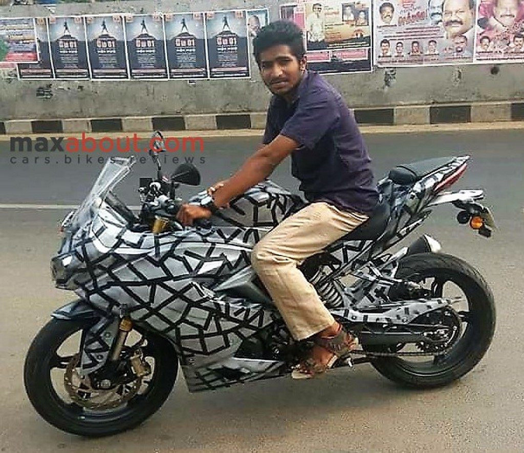 TVS Apache RR 310S Side Spotted