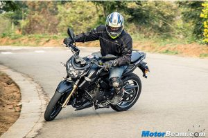 TVS Apache RTR 200 4V Black Side