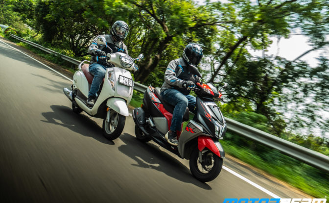 TVS NTorq 125 vs Suzuki Access 125 Comparison Review 19