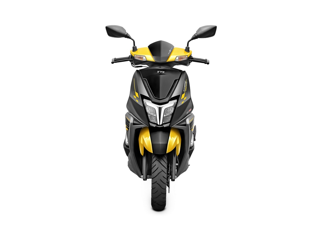 TVS NTorq Race Edition Yellow & Black Front