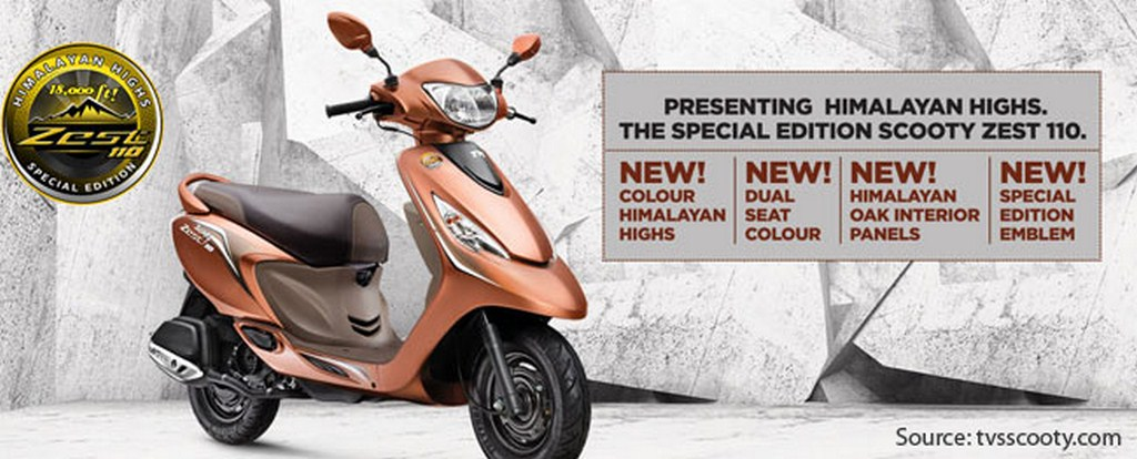 TVS Scooty Zest Himalayan Highs Edition