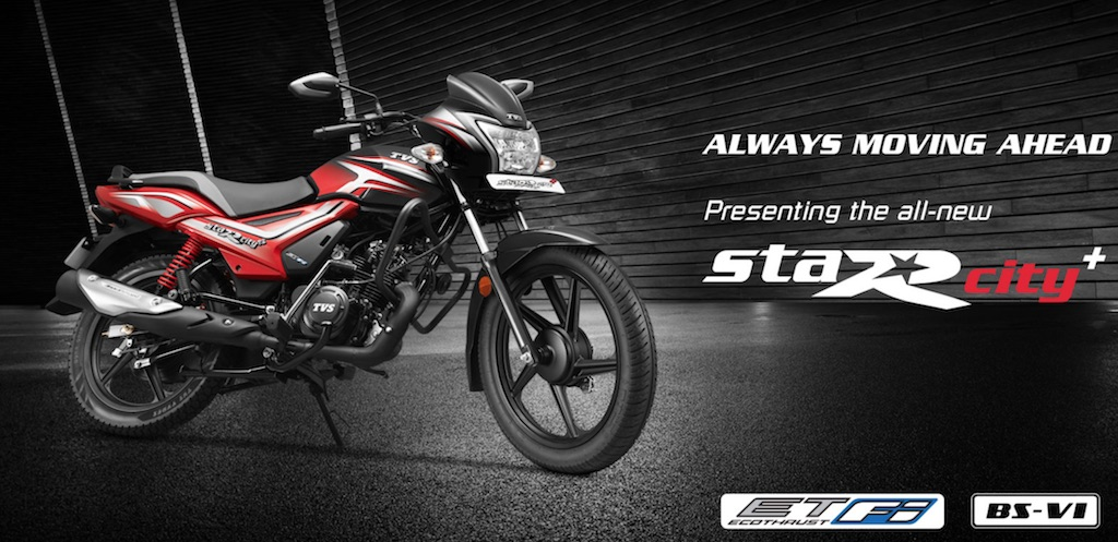 TVS Star City+ BS6 Launched, Priced From Rs. 62,034/-