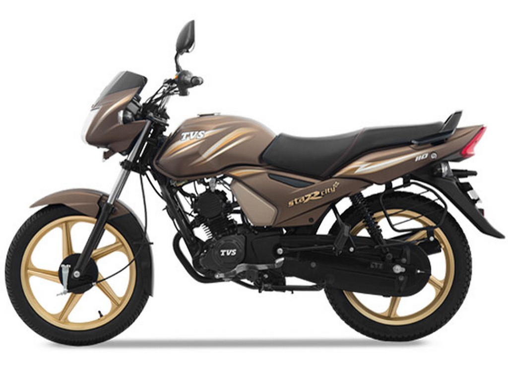 TVS Star City Plus Chocolate Gold Edition Side