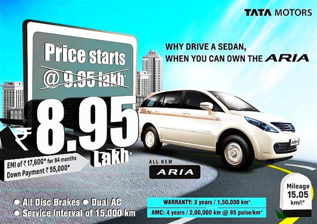 Tata Aria Price Cut