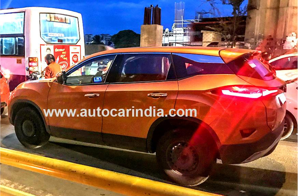 Tata Harrier With Sunroof Spied