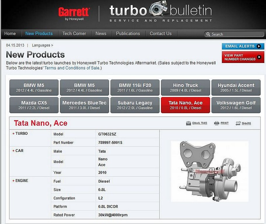 Tata Nano Diesel Engine Specifications