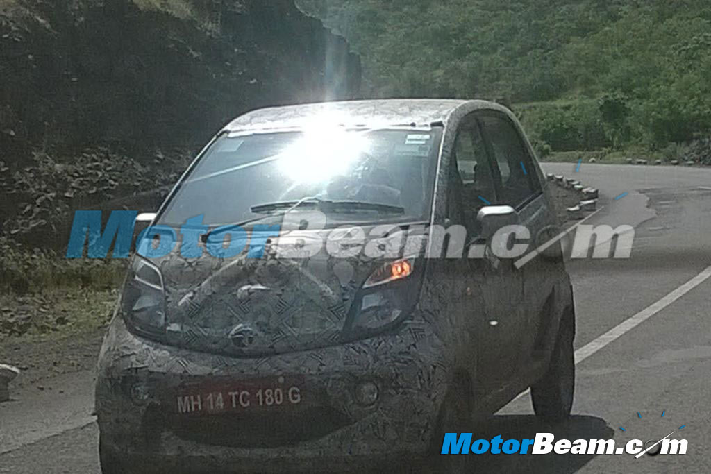 Tata Nano Facelift Spy Shot Front