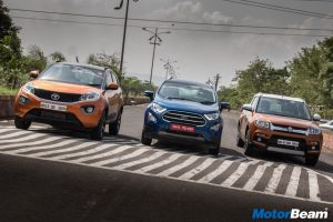 Tata Nexon vs Maruti Vitara Brezza vs Ford EcoSport – Video Shootout