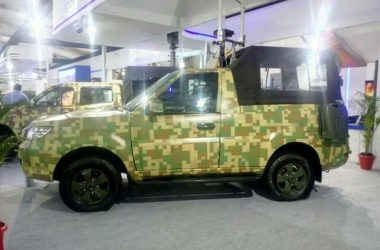 Tata Safari Storme GS800 Pickup Truck Showcased For The Indian Army