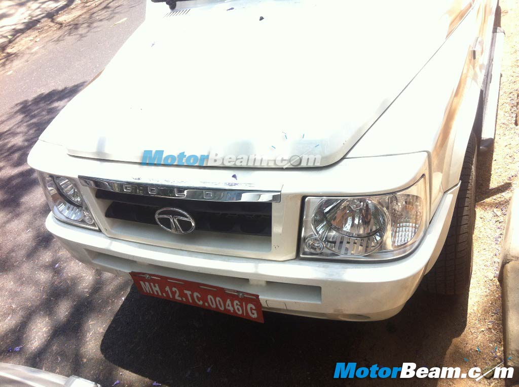 Tata Sumo Gold Spy Shot Side Front