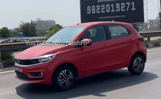 Tata Tiago CNG Spied