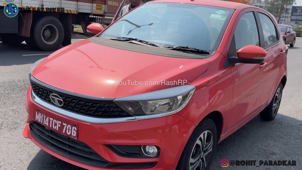 Tata Tiago CNG Spied Front