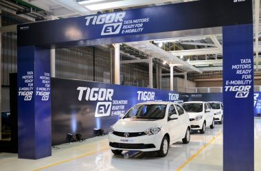 Tata Tigor EV Production Commences, First Batch Rolled Out