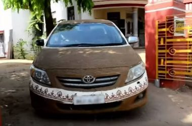 Toyota Corolla In Cow Dung