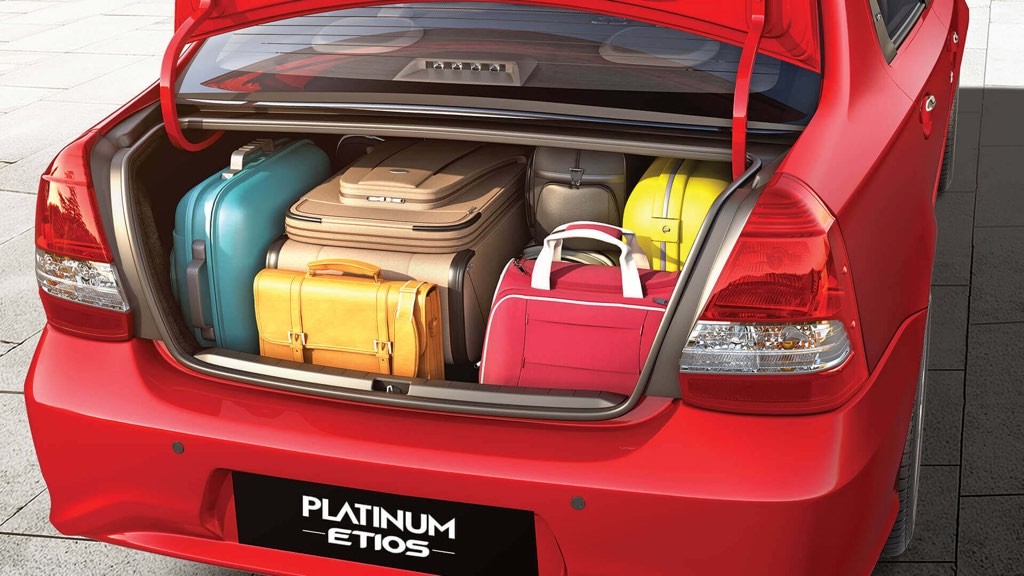 Toyota Etios Platinum Boot Space