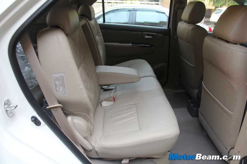 Toyota Fortuner Rear Seats