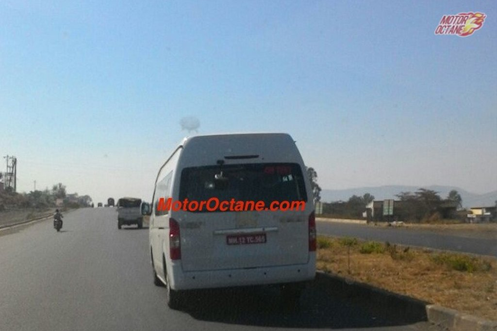 Toyota Hiace Spied India